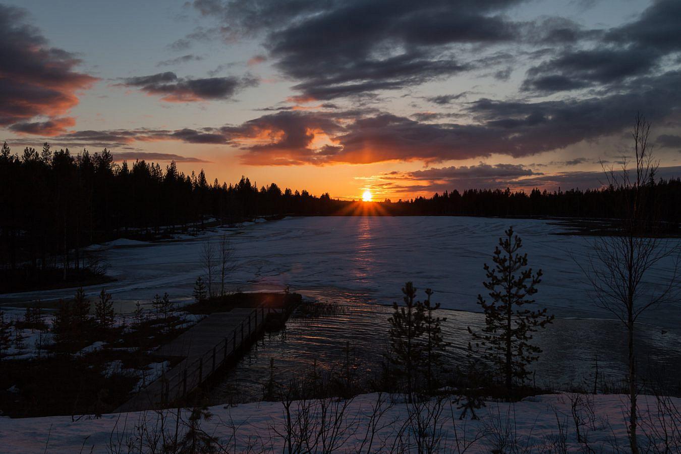 Rond 12 's nachts in Salla - Fins Lapland