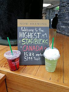Starbucks in Banff
